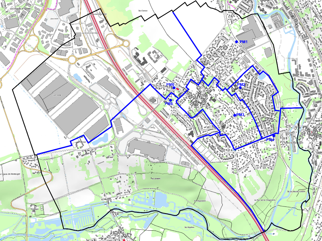 Carte Villabé SFR Fibre PM Zones r