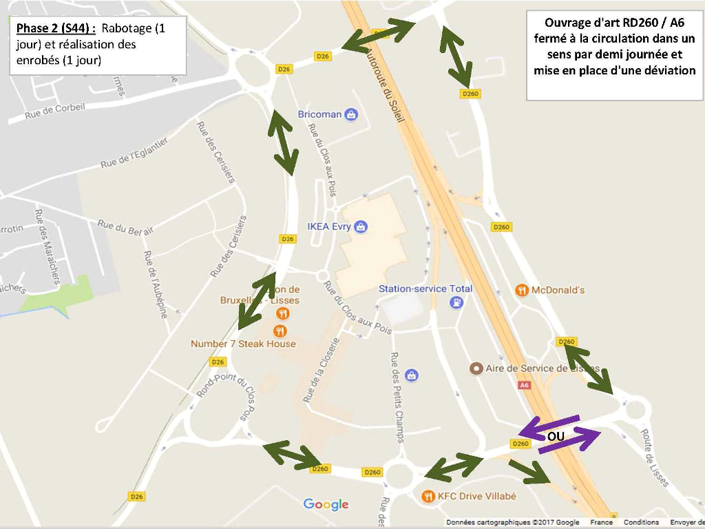 Travaux pont RD260 A6 PLANS DE PHASAGE Phase 1