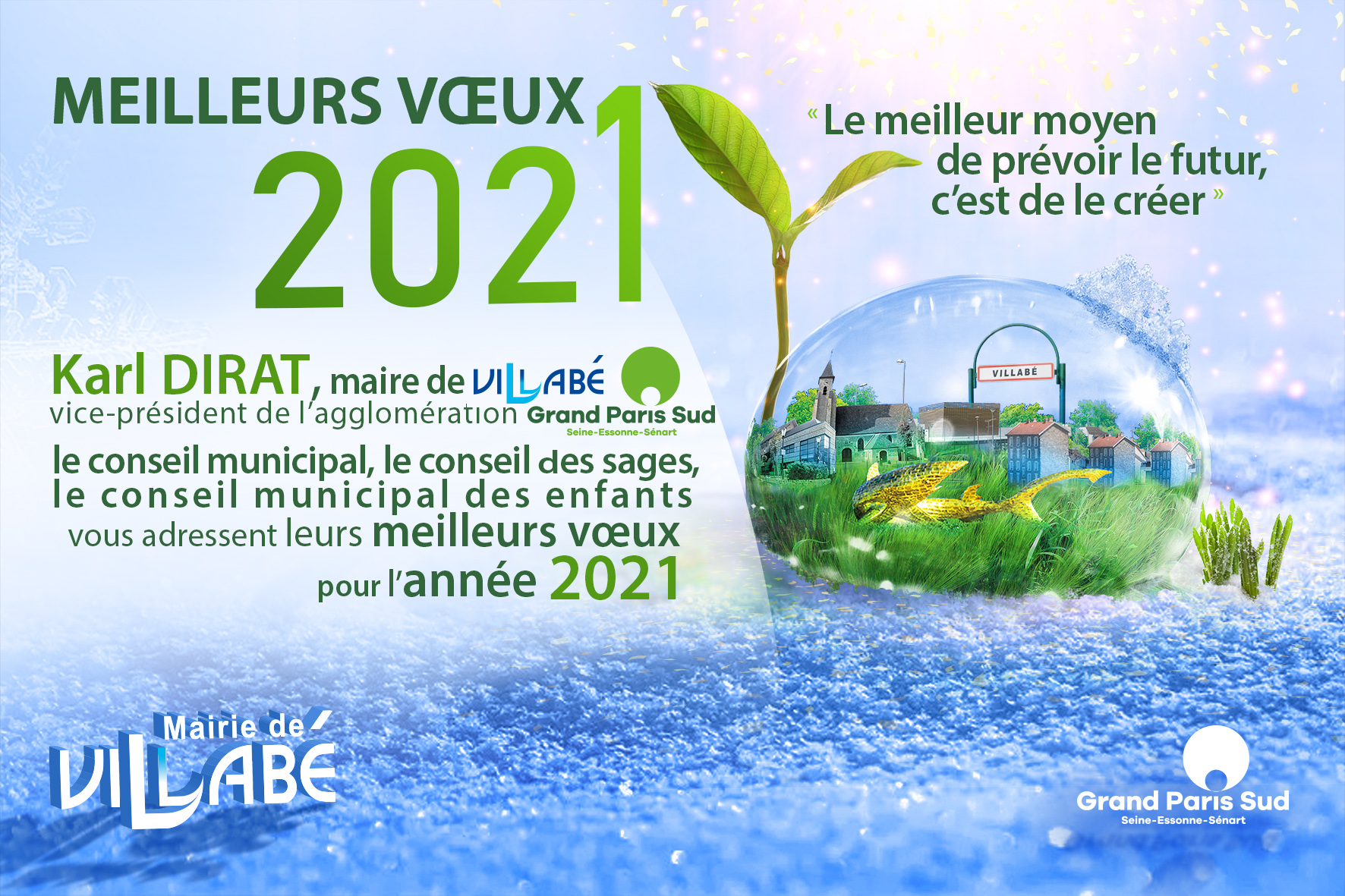 10x15 Voeux 2020 2021 Neige 10